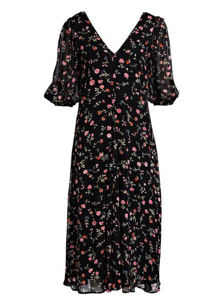 GANNI Kleid GEORGETTE, Farbe: SCHWARZ/ GRÜN/ ROSA (Bild 1)