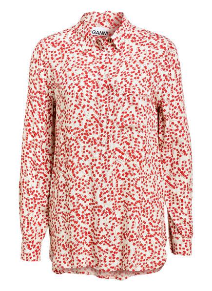 GANNI Bluse, Farbe: ECRU/ ROT (Bild 1)
