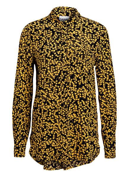 GANNI Bluse, Farbe: SCHWARZ/ GELB (Bild 1)