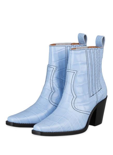 GANNI Boots CALLIE , Farbe: HELLBLAU (Bild 1)