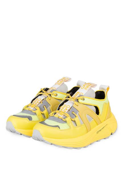 GANNI Plateau-Sneaker TECH LOW , Farbe: GELB/ HELLGRÜN (Bild 1)
