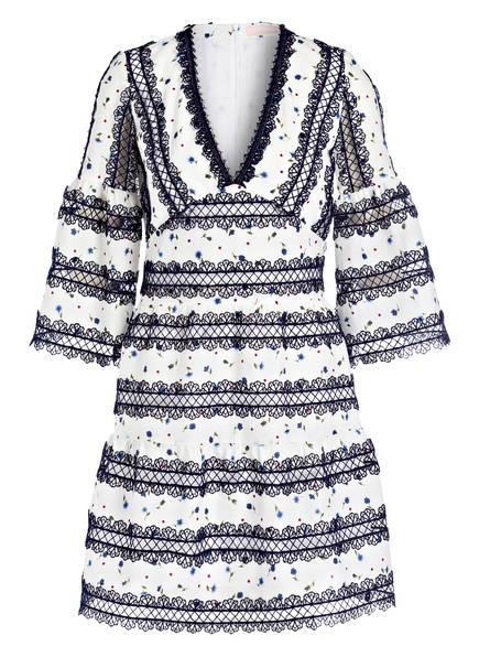VALÉRIE KHALFON Kleid ALBURY, Farbe: CREME/ DUNKELBLAU (Bild 1)