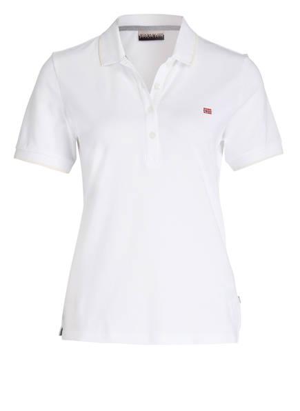 NAPAPIJRI Piqué-Poloshirt ELMA, Farbe: WEISS (Bild 1)
