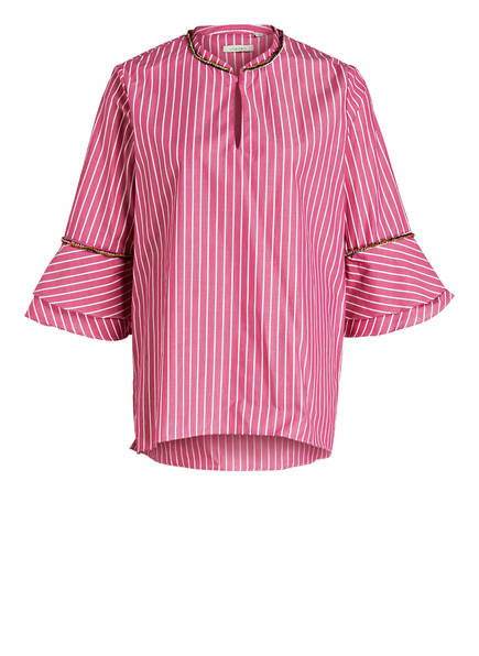 lilienfels Blusenshirt, Farbe: PINK/ WEISS GESTREIFT (Bild 1)