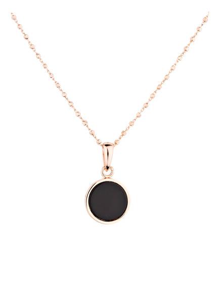 Bronzallure Kette BLACK ONYX, Farbe: ROSÉGOLD/ SCHWARZ (Bild 1)