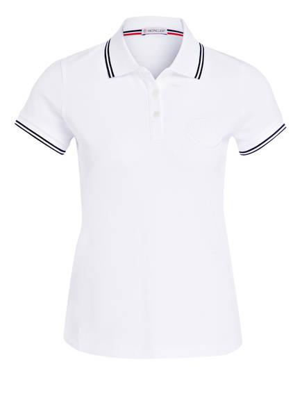 MONCLER Piqué-Poloshirt, Farbe: WEISS (Bild 1)