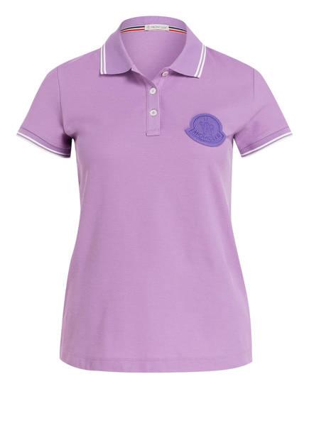 MONCLER Piqué-Poloshirt, Farbe: LILA (Bild 1)