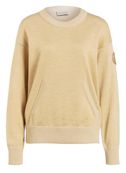 MONCLER Pullover mit Glitzergarn, Farbe: GOLD (Bild 1)