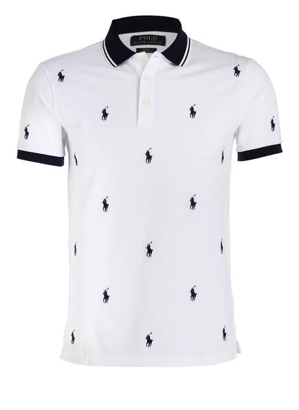 POLO RALPH LAUREN  Piqué-Poloshirt Slim Fit, Farbe: WEISS (Bild 1)