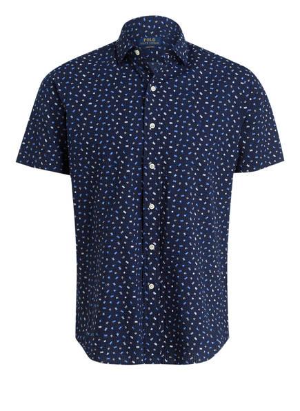 POLO RALPH LAUREN Halbarm-Hemd Tailored Fit, Farbe: DUNKELBLAU GEMUSTERT (Bild 1)