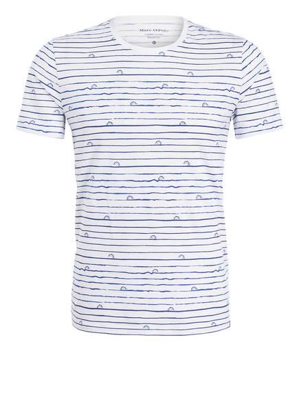 b069389242a2d2 Marc O'Polo T-Shirt, Farbe WEISS/ BLAU (Bild ...