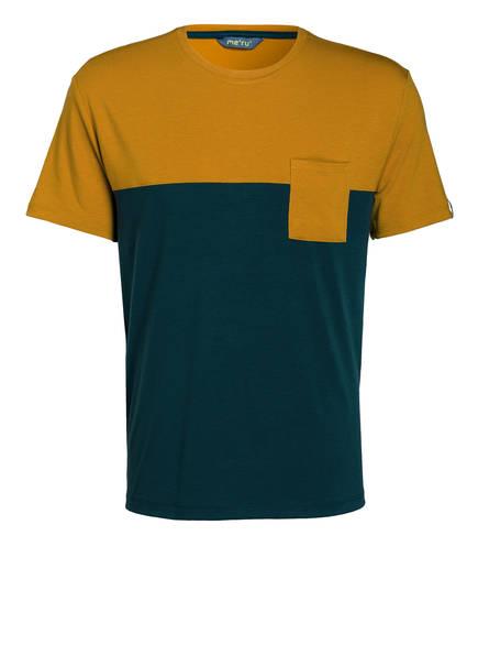me°ru' T-Shirt TRIKALA, Farbe: GELB/ PETROL (Bild 1)