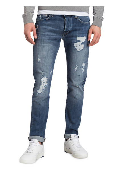 jeans Fit True Blue Rocco Relaxed Religion Denim Destroyed Skinny Ewqz47w