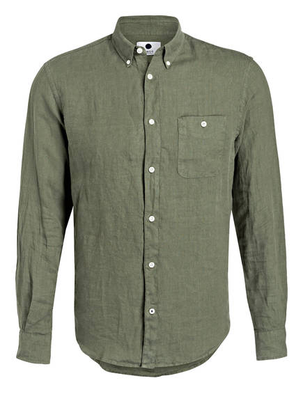 NN07 Leinenhemd NEW DEREK Regular Fit, Farbe: OLIV (Bild 1)