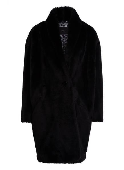 STEFFEN SCHRAUT Mantel in Felloptik, Farbe: SCHWARZ (Bild 1)
