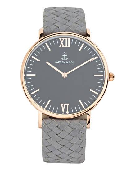 KAPTEN & SON Armbanduhr CAMPUS, Farbe: ROSÉGOLD/ GRAU (Bild 1)