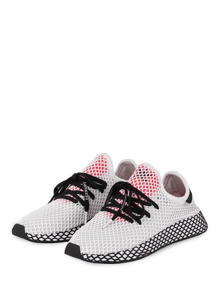 adidas Originals Sneaker DEERUPT RUNNER, Farbe: WEISS/ GRAU/ ROT (Bild 1)
