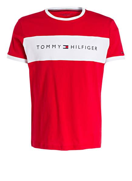 TOMMY HILFIGER Lounge-Shirt, Farbe: ROT/ WEISS (Bild 1)