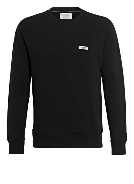 Nudie Jeans Sweatshirt SAMUEL, Farbe: SCHWARZ (Bild 1)