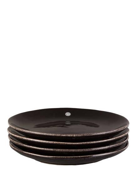 BROSTE COPENHAGEN 4er-Set Dessertteller , Farbe: NORDIC COAL (Bild 1)
