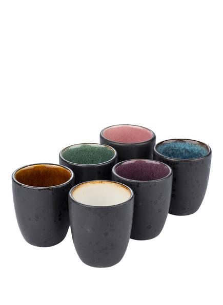 Bitz 6er-Set Espresso-Becher, Farbe: ROSA/ LILA/ BLAU/ GRÜN/ WEISS  (Bild 1)