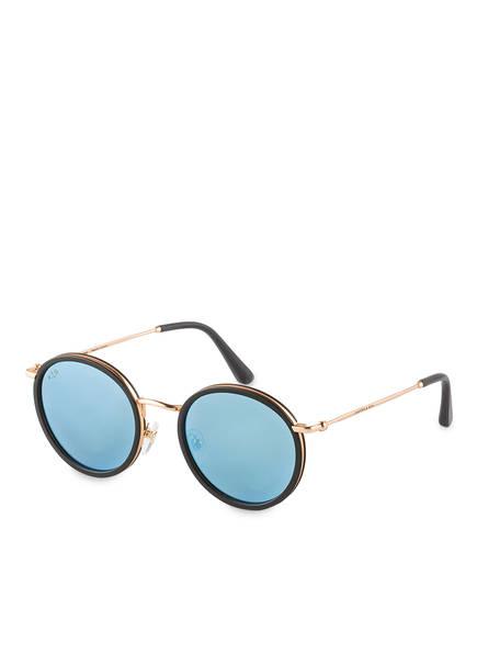 KAPTEN & SON Sonnenbrille AMSTERDAM, Farbe: SCHWARZ/ GOLD/ BLAU VERSPIEGELT (Bild 1)