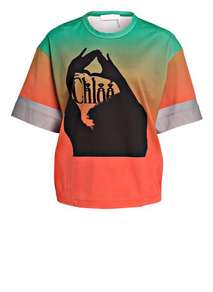 Chloé T-Shirt, Farbe: GRÜN/ ORANGE (Bild 1)