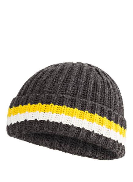 DRYKORN Mütze NECO, Farbe: DUNKELGRAU/ GELB/ WEISS (Bild 1)