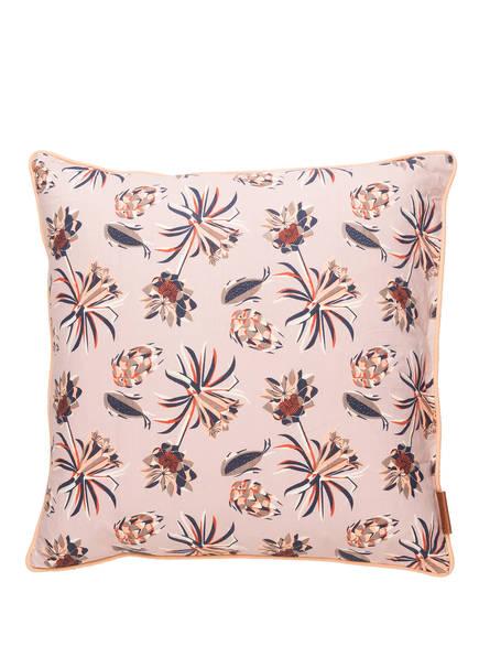 Cozy Living Dekokissen PALM FLOWER mit Füllung , Farbe: ROSA/ BLAU/ ORANGE (Bild 1)