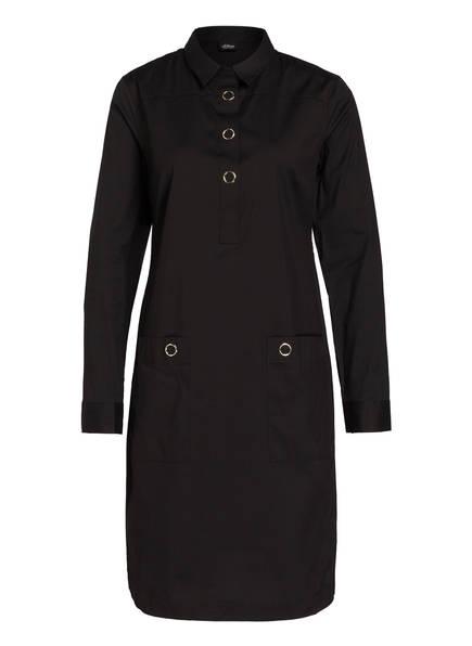 s.Oliver BLACK LABEL Hemdblusenkleid, Farbe: SCHWARZ (Bild 1)