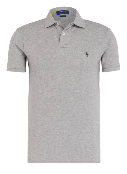 POLO RALPH LAUREN Piqué-Poloshirt Slim Fit, Farbe: HELLGRAU (Bild 1)