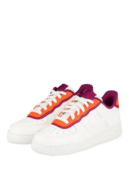 Nike Sneaker AIR FORCE 1 '07, Farbe: WEISS/ ORANGE/ BORDEAUX (Bild 1)