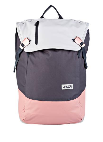 AEVOR Rucksack DAYPACK mit Laptopfach, Farbe: DUNKELGRAU/ ROSA (Bild 1)