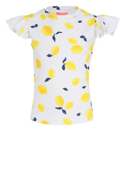 SUNUVA T-Shirt UV-Schutz mit UPF 50+, Farbe: WEISS/ GELB (Bild 1)
