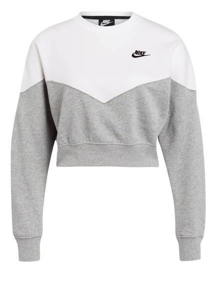 Nike Sweatshirt HERITAGE, Farbe: WEISS/ GRAU (Bild 1)