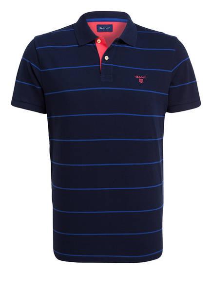 GANT Piqué-Poloshirt, Farbe: DUNKELBLAU/ BLAU GESTREIFT (Bild 1)