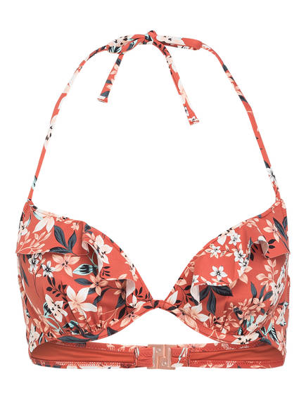 Skiny Sunset Glamour Push-up-Bikini-Top, Farbe: BRAUN/ CREME/ TÜRKIS (Bild 1)