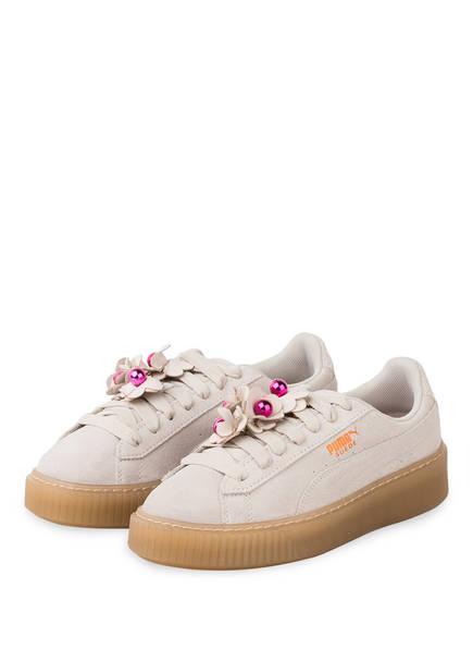 PUMA Sneaker PLATFORM FLOWER TASSEL, Farbe: CREME (Bild 1)
