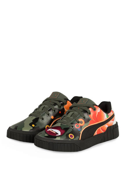 PUMA Sneaker CALI PEONIES CAMO, Farbe: OLIV/ ORANGE/ SCHWARZ (Bild 1)