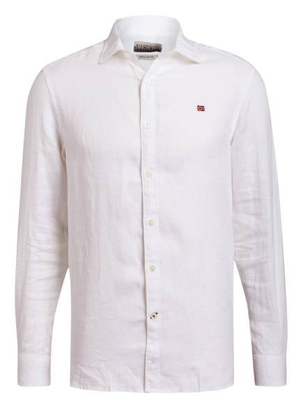 NAPAPIJRI Leinenhemd GERVAS Regular Fit, Farbe: WEISS (Bild 1)