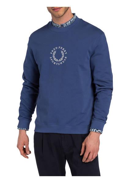 Sweatshirt Perry Fred Fred Perry Sweatshirt Blau tqqa0Iw