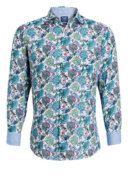 OLYMP Leinenhemd Modern fit, Farbe: GRÜN/ WEISS/ BLAU (Bild 1)