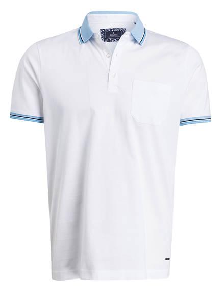 RAGMAN Jersey-Poloshirt, Farbe: WEISS (Bild 1)