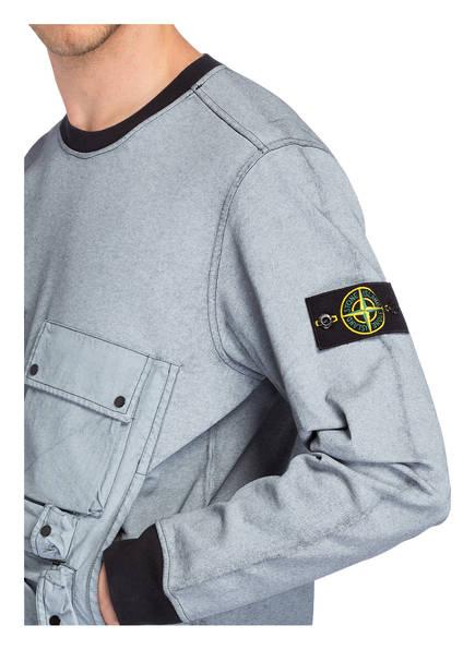 Stone Stone Island Schwarz Hellblau Stone Schwarz Island Sweatshirt Hellblau Sweatshirt dqAHndO1X