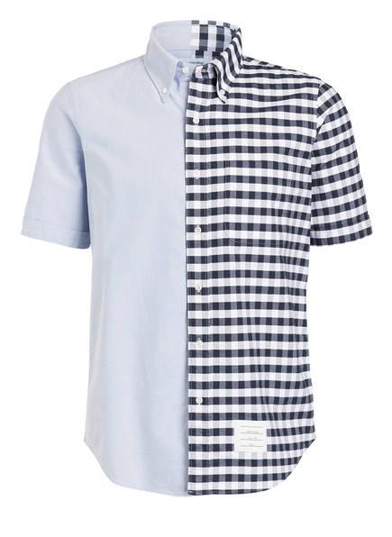 THOM BROWNE. Halbarm-Hemd Straight Fit, Farbe: NAVY/ HELLBLAU/ WEISS (Bild 1)