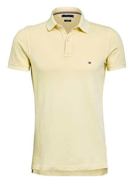 TOMMY HILFIGER Piqué-Poloshirt Slim Fit, Farbe: GELB (Bild 1)