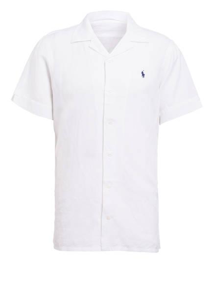 POLO RALPH LAUREN Halbarm-Resorthemd mit Leinenanteil, Farbe: WEISS (Bild 1)