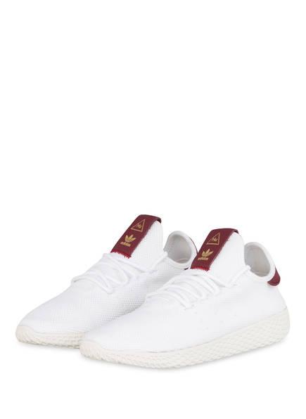 adidas Originals Sneaker PHARRELL WILLIAMS TENNIS HU, Farbe: WEISS/ BORDEAUX (Bild 1)