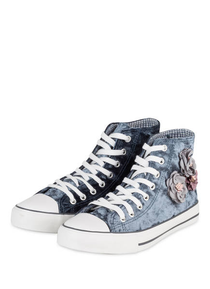 KRÜGER Hightop-Sneaker BLUMENTRAUM , Farbe: BLAU/ WEISS (Bild 1)