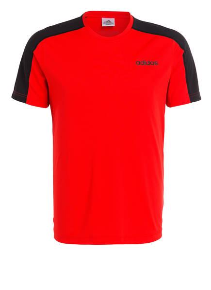 adidas T-Shirt D2M, Farbe: ROT/ SCHWARZ (Bild 1)